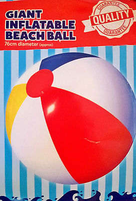Giant Large Inflatable Beach Ball Swimming Blow Up Pool Party Play Holiday 76cm