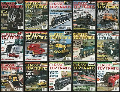 Classic Toy Trains Magazine Lot of 15 Issues 2000 2001 Model Railroading