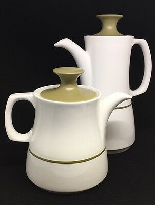 Mayflower by Grindley Coffee Tea Pot Pitcher 4pcs total  2 ewers tall and short