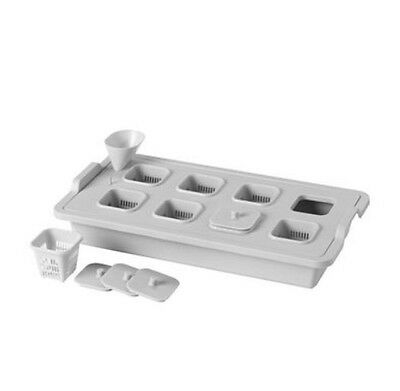 Ikea New Plant Cultivation insert set VÄXER Grey 41x22 cm