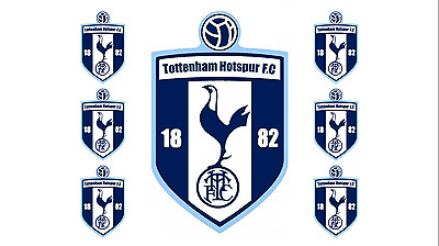 """TOTTENHAM FOOTBALL cake topper edible 7"""" Cake topper and 6 cupcake toppers"""