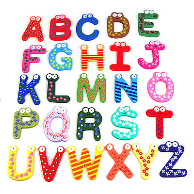 Teaching Kids Children Learning Letters numbers Fridge Magnets Alphabets