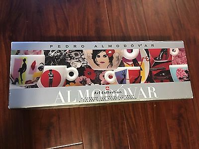 Pedro Almodovar Illy Art collection complete set Espresso Cups and Saucers