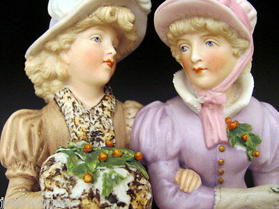 Hand Painted Antique Germany Bisque Female Figurine Ernst Bohne 1901
