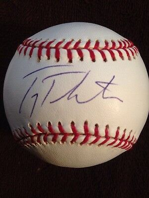 TROY TULOWITZKI  Signed Autographed Major League Baseball Single Auto Blue Jays