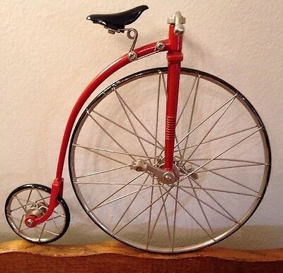 Byers' Choice Doll Prop Penny Farthing Style Red High Wheeler Wheel Bike Bicycle