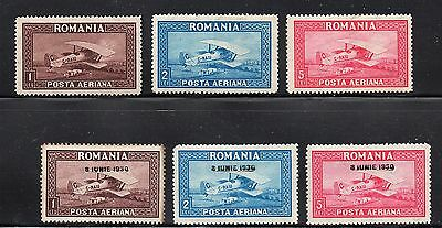 Romania - Sc# C1 - C3 + C7 - C9 MH (tone on C7) - Lot 0417098