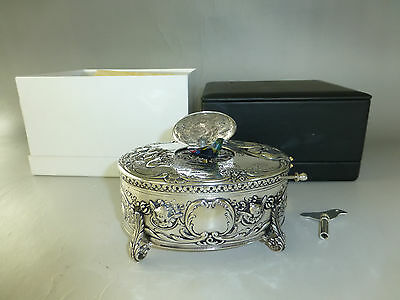 Vintage German Sterling Silver Karl Griesbaum Singing Bird Box Musical Automaton