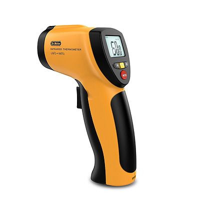 Dr.meter Non-contact Digital Laser Infrared Thermometer with Backlit LCD Display