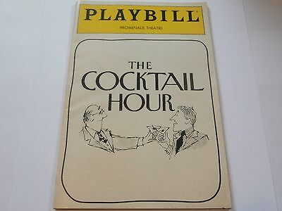 Vintage Playbill  The Cocktail Hour Promenade Theatre 1989 Nancy Marchand