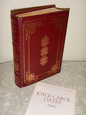 "FRANKLIN LIBRARY LEATHER BD BOOK ""THEM - Joyce Carol Oates""1979 Signed"