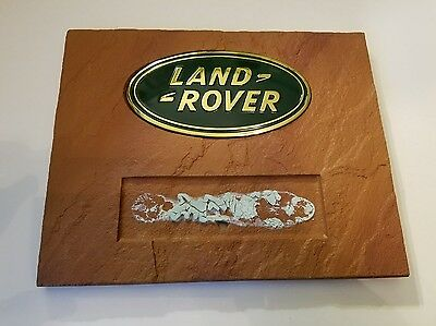 Land Rover Recognition Award Plaque