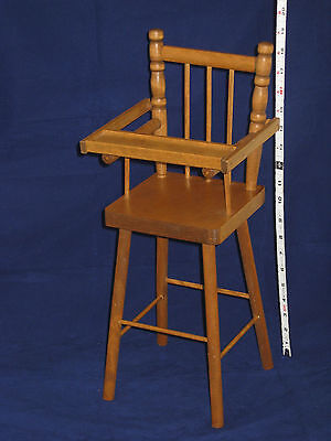 """Vintage Wood Doll High Chair with Movable Tray - 18.5"""" high"""
