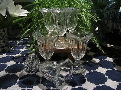 Vintage Tall Glass Ice Cream Sundae / Sweet Flutes / Dishes