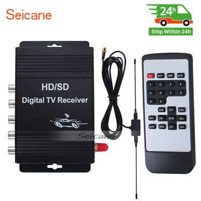 Seicane ATSC HD Digital TV Receiver DTV Box For Automobile Radio DVD Player