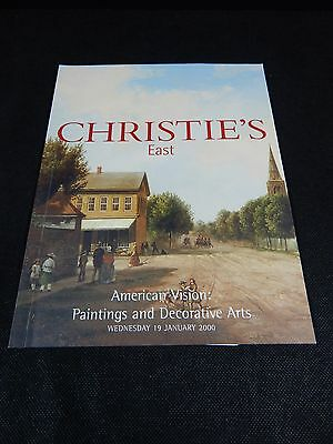 "Christie's Auction Catalog ""american Vision: Paintings & Decorative Arts"" 2000"