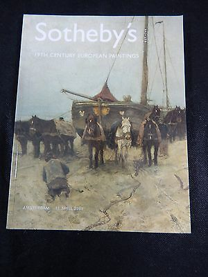 "Sotheby's Auction Catalog ""19Th Century European Paintings"" April 2003"