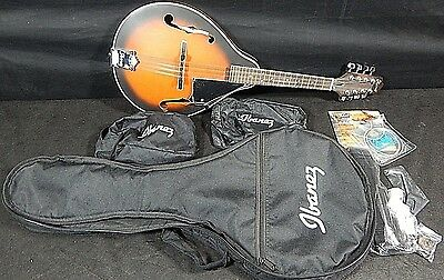 Ibanez Ijm 5 A Type Mandolin Package & Gig Bag Picks Strap