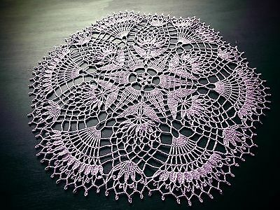 Fine Crocheted Doily - Classic Lavender - Handmade By Me - New