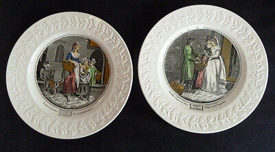 """TWO Adams Decorative 26.5 cm Pottery Plates """"Cries of London"""" Series"""
