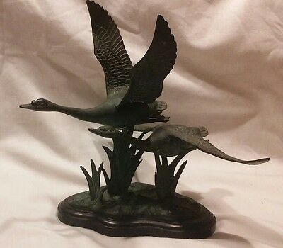 vintage metal flying geese
