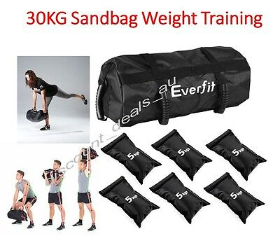 Gym Weight Training Bag Sandbag Crossfit Workout 30KG Heavy Sand Bags Power