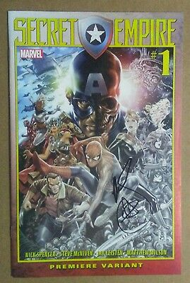 Secret Empire Free Comic Book Day Signed By Mark Brooks Nm Captain America Sale!