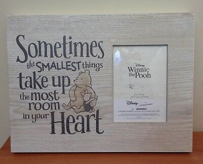 NEW Disney Winnie the Pooh Nursery Wood Wall Hanging & Picture Frame $39