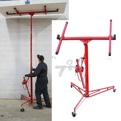 11Ft Steady Heavy Duty Lift Lifter Tool Drywall Hoists Plaster Board Panel Sheet