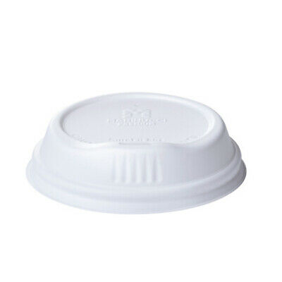 100 x Coffee Lid with Sipper Lip, White, Fits 12&16oz Coffee Cups