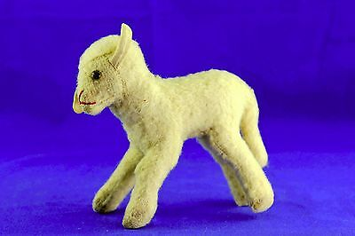 Vintage Steiff Wooly Lamb Glass Eyes No Button