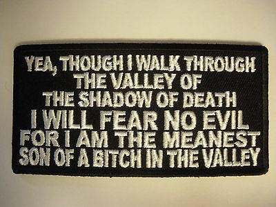 Yea I walk through the....... Patch Sew/Iron - Rider biker Men's Shed Motorcycle