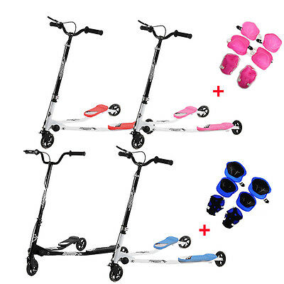 3 Wheels Push Scooter 3 Size Swing Tri Slider Motion Winged with Body Protect