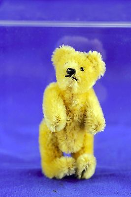 Antique Steiff Miniature Mohair Teddy Bead Fully Jointed No Button 1920's
