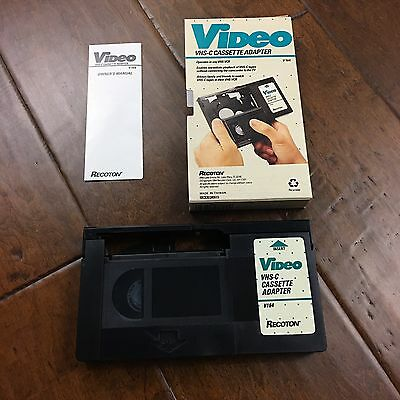 VHS C Adapter Cassette Motorized VCR Tape Recoton V164 Video Battery Working