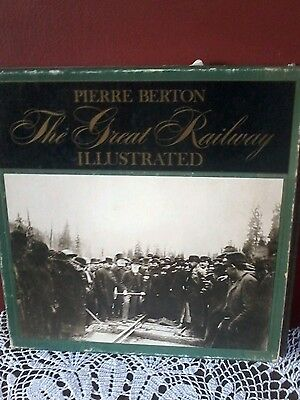 Autographed Copy By Pierre Berton The Great Railway Illustrated