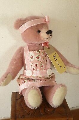 """Alice"" OOAK Mohair Teddy Bear 7 inches by bear artist Threadbears by Rosa."