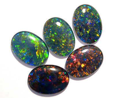 Beautiful parcel 5 of Australian Opal Triplets, 18 x 13 mm (#2635)