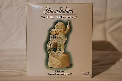 """Department 56 Snowbabies """"A Baby For Everyday"""" Friday,Loves Rhythm and Soul.NIB"""
