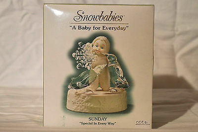 """Department 56 Snowbabies """"A Baby For Everyday"""" Sunday,Special In Every Way. NIB"""