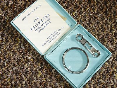 BPM Prismeter No.2 Leica Close-Up Attachment and Goggles - 42mm - Boxed - Lovely
