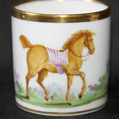 Superbe Paris Empire Porcelain Cup  Horse-Riding (3)