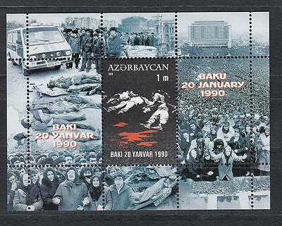 Azerbaijan Aserbaidschan MNH** 2010 Mi.787 Bl. 88 20th Aniv. Of January Tragedy