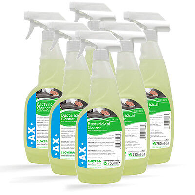 X6 Food Safe Anti-Bacterial Kitchen Sanitiser Hard Surface Cleaner 750ml MRSA