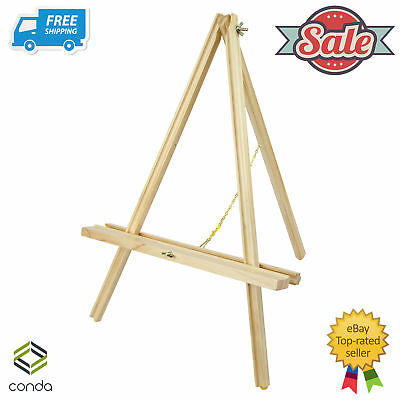 56 cm Tall Tripod Artist Display Tabletop Easel Conda NATURAL Beach Wood Easels