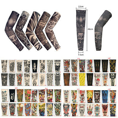Cooling Tattoos UV Sun Protection Basketball Golf Sport Arm Sleeves Random Image