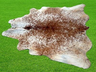 "New Cowhide Rugs Area Cow Skin Leather 16.97 sq.feet (52""x47"") Cow hide MB-1044"