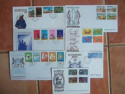 BOTSWANA 1970-1971 7 x DIFF COMMEMORATIVE FIRST DAY COVERS