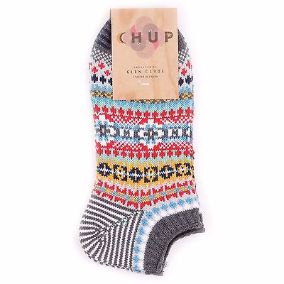 Chup Muir Grey Socks by Chup By Glen Clyde Sock Made in Japan Original Socks