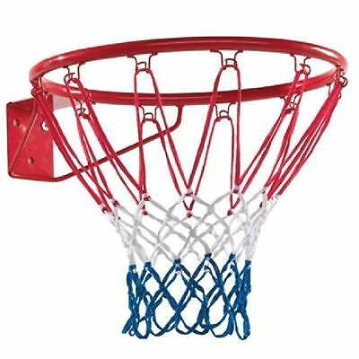 Basketball Ring Official Size (45Cm) With Hoop Net & Wall Mounting Fixings Uk
